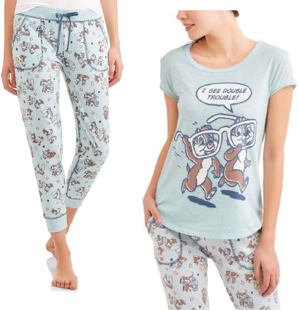 Chip 'n Dale Women's and Women's Plus Sleep Tee and Jogger Pant
