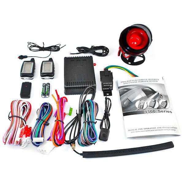 2 Way LCD Car Alarm Keyless Entry Remote Starter For Chevy Camaro Van Cavalier Chevette Cobalt Kodiak - image 4 of 5