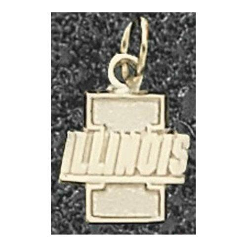 """NCAA - Illinois Fighting Illini 14K Gold I Illinois 7/16"""" Pendant"""