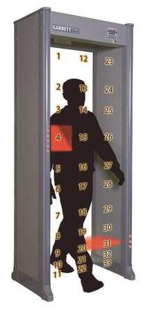 Walk Through Metal Detector, 33 Zones, Beige GARRETT METAL DETECTORS 1168411 by Garrett Metal Detectors