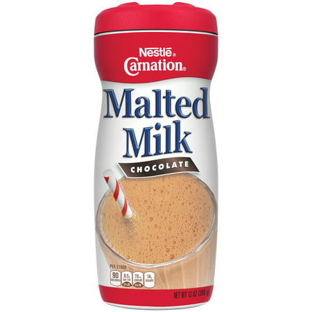 (2 pack) CARNATION Chocolate Malted Milk Mix 13 oz. Cannister