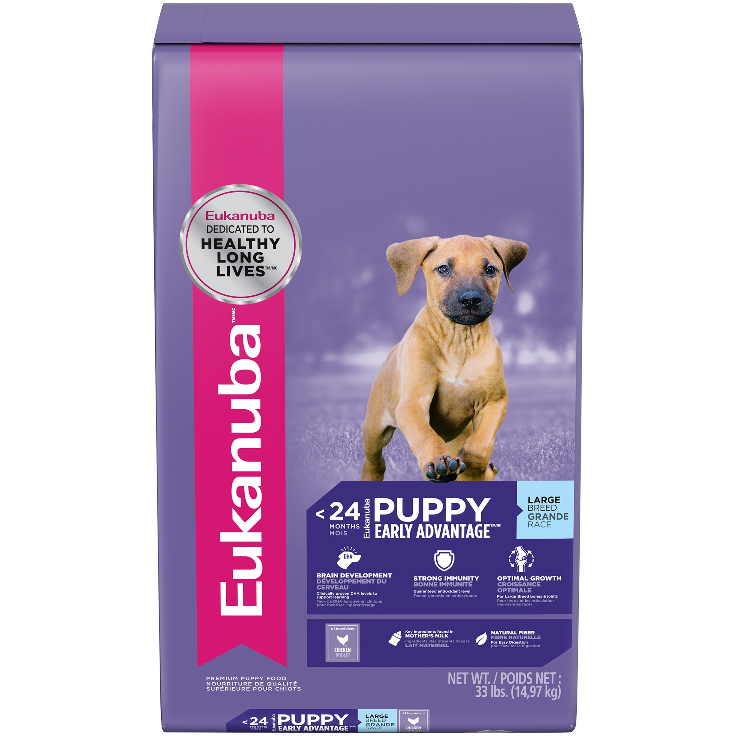 Eukanuba Large Breed Puppy Dry Dog Food, 33 Lb