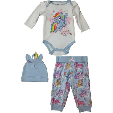 My Little Pony Leggings (Infant Girls My Little Pony Outfit Beanie Bodysuit & Leggings 3-Piece Set)