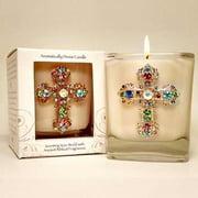 "Candle-Myrrh Jeweled Candle 3"""
