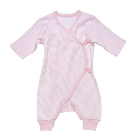 Baby Organic Cotton Long Sleeve Stripe Side Snap Kimono