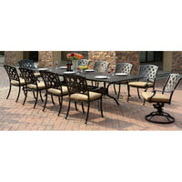 Fleur De Lis Living Campton 11 Piece Dining Set with Cushion