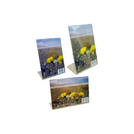 Bulk Buys PH308-12 Stand-Up Clear Photo Frames - Frames In Bulk