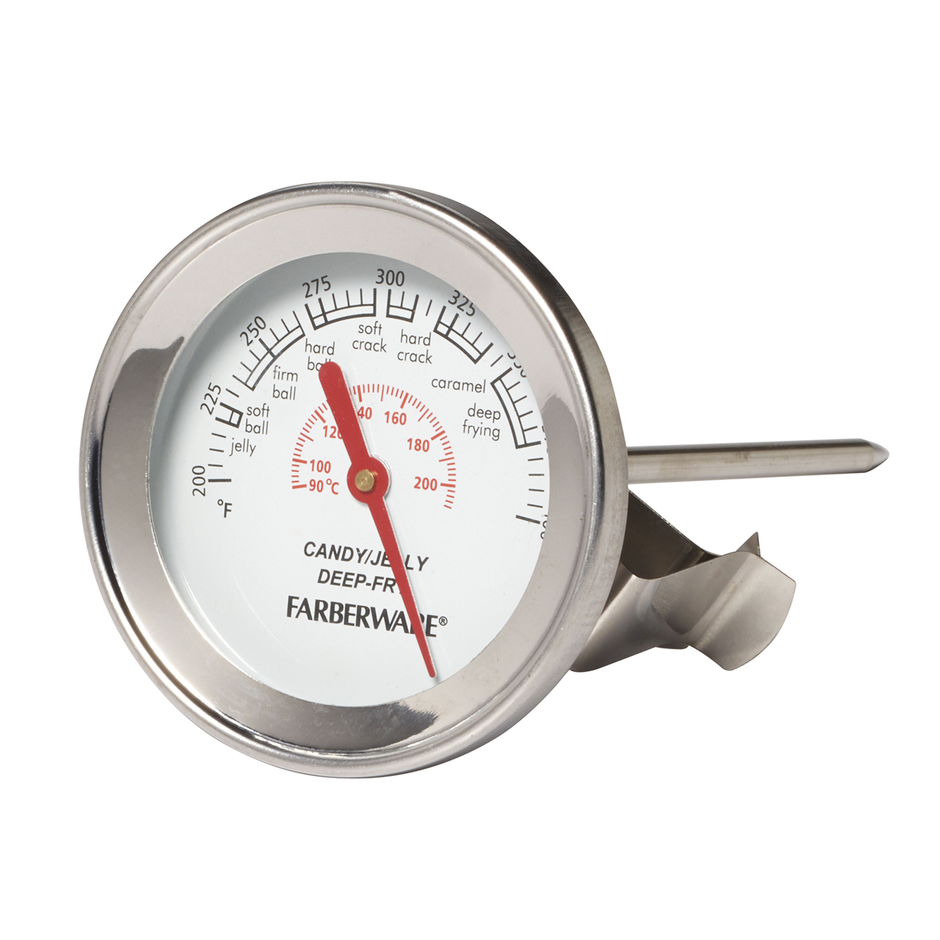 Farberware Protek Candy and Deep Fry Thermometer, Easy Read Display