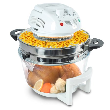 NutriChef PKAIRFR48 - Halogen Oven Air-Fryer / Infrared Convection Cooker, Healthy Kitchen Countertop Cooking