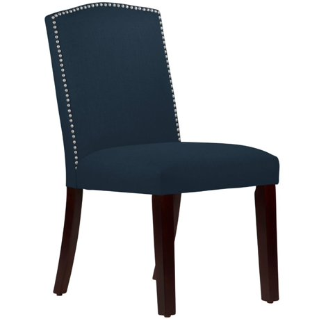 Skyline Furniture 20 Arched Dining Chair In Linen Navy