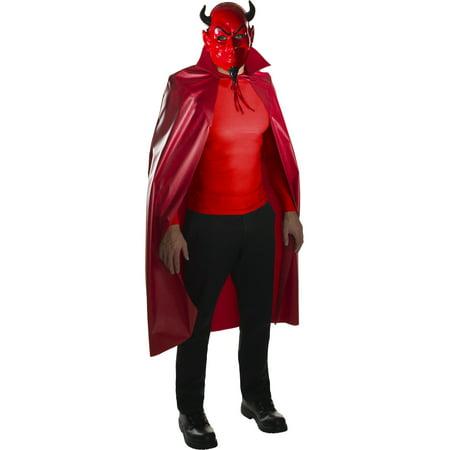 Adult's Scream Queens Killer Devil Mask And Cape Set Costume Accessory