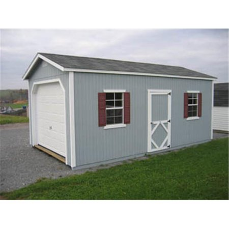 Little Cottage 12x24 CWGR-WPNK Classic Garage DIY Kit, 12 x 24 ft