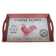 Sagebrook Home Rooster Tray