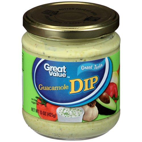 Great Value Guacamole Dip, 15 oz