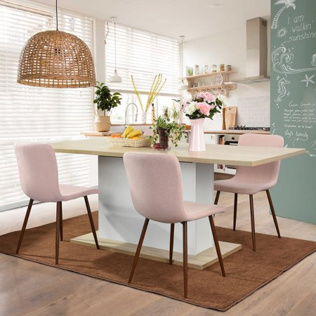 HOMYCASA Solid Wood Extendable Dining Table Rectangle Kitchen Dining Table Beech&White ()