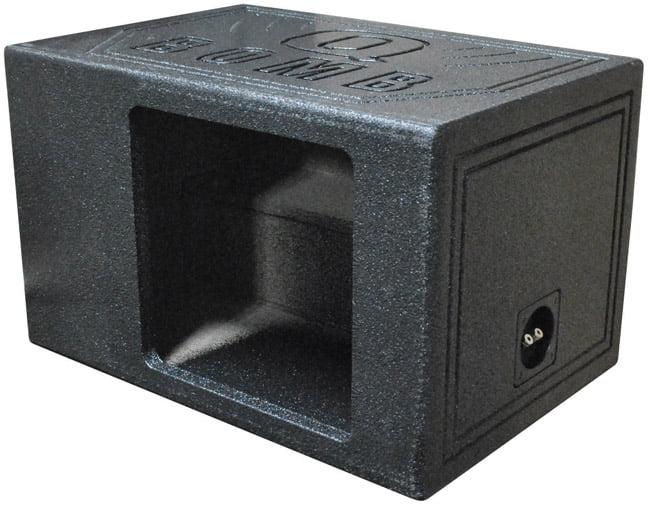 Q Power HD112 VENT SQ Single 12-Inch Vented Custom Speaker Box for Kicker L7 Subwoofer