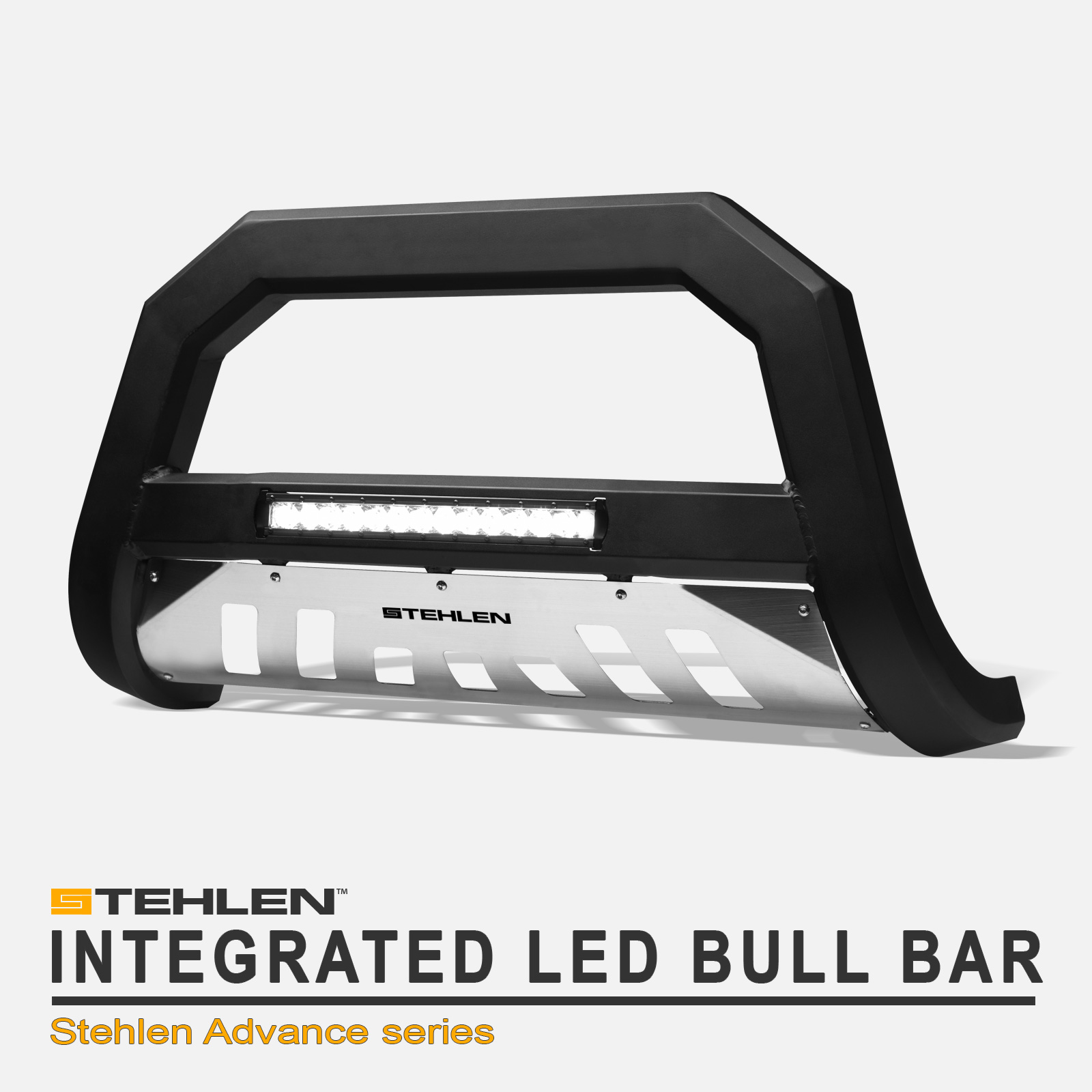 1997-2002 Expedition Stehlen 714937183377 Advance Series Bull Bar Matte Black For 1997-2003 Ford F150 F250 Light Duty 2004 Heritage