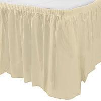 "Vanilla Cream Plastic Table Skirt 14' x 29"""