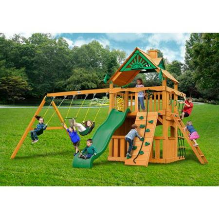 Gorilla Playsets Chateau Ii Clubhouse Cedar Swing Set Walmart Com