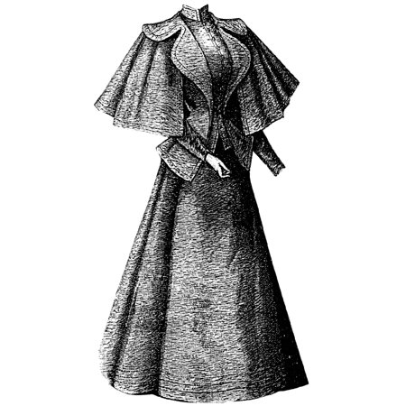 Sewing Pattern: 1895 Spring Costume with Cape Jacket Pattern - Spring Costume