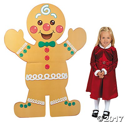 Christmas Gingerbread Man Cardboard Stand-Up (Cardboard Fireplace For Christmas)