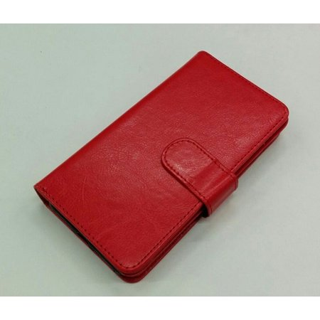 """iPhone 7 / iPhone 8 4.7 """" Deluxe Leather Flip Wallet Cover Case - Red - image 1 de 1"""