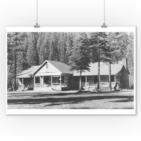 Fire Mountain Lodge in Mill Creek, California Photograph (9x12 Art Print, Wall Decor Travel Poster) ()