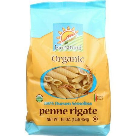 Bionaturae Organic Pasta - Bionaturae Pasta - Organic - 100 Percent Durum Semolina - Penne Rigate - 16 Oz - pack of 12