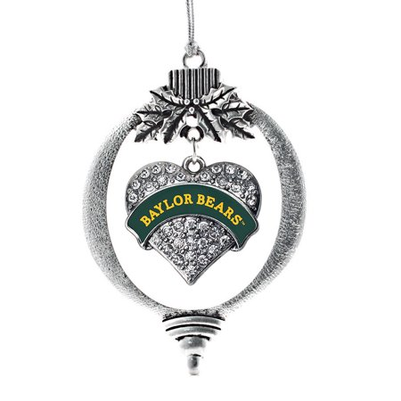 Baylor Bears Pave Heart Holiday Ornament Boy Bear Holiday Ornament