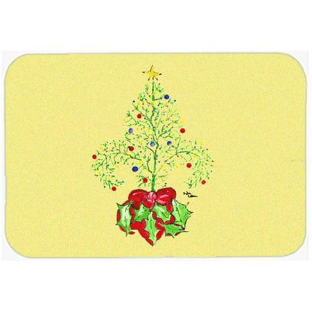 Carolines Treasures 8501LCB 15 X 12 In. Christmas Tree Fleur de lis Glass Cutting Board Large Size - image 1 of 1