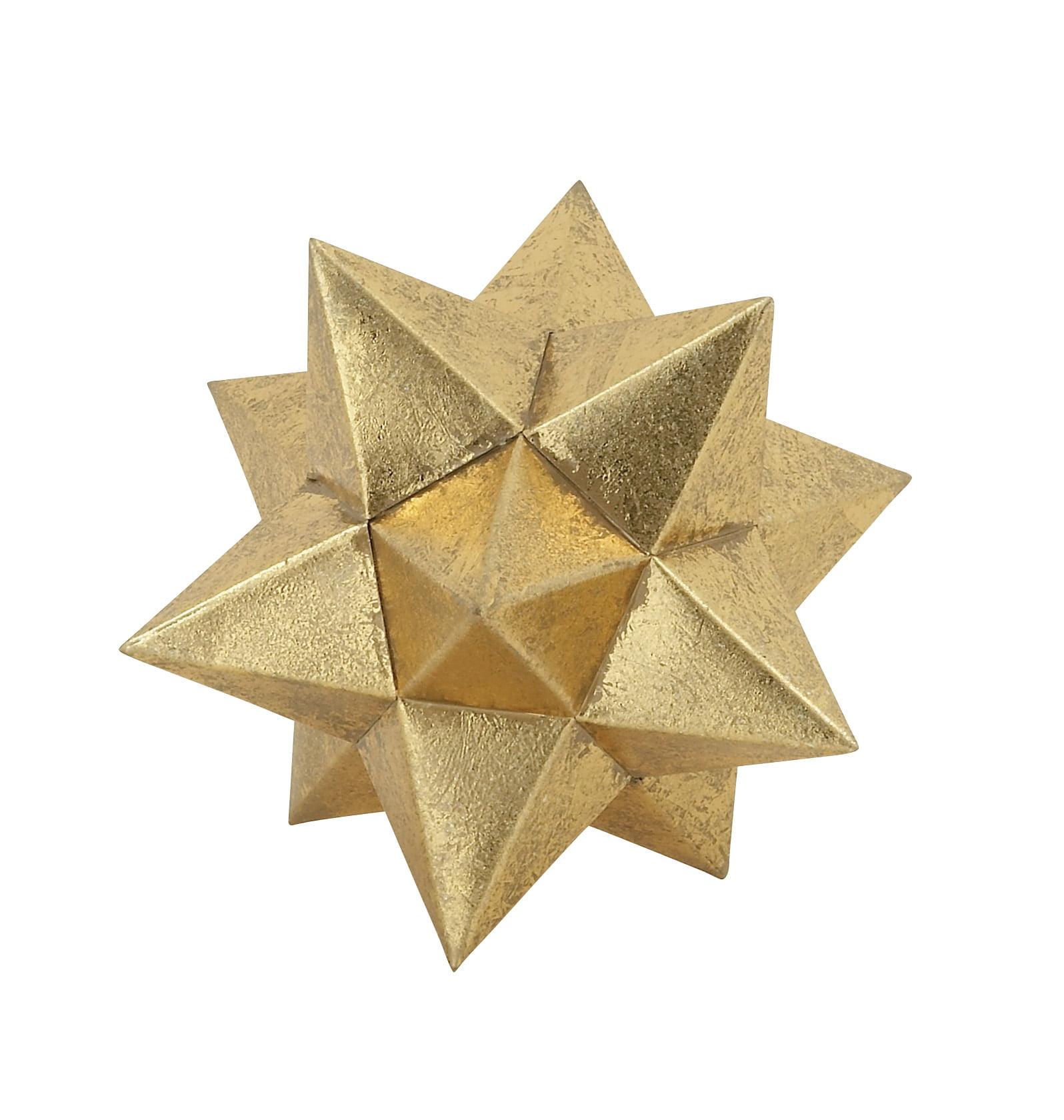 Benzara Gold Star Spike Decor