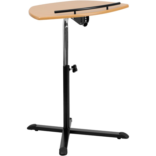 Flash Furniture Height Adjustable Laptop Computer Stand, Cherry