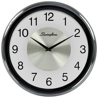 "CLOCK-12"" ROUND, FROSTED BLACK - image 1 de 1"