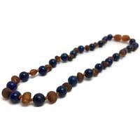 12.5 ADHD Teething Raw Cognac Lapis Lazuli Baltic Amber Necklace Baby Toddler