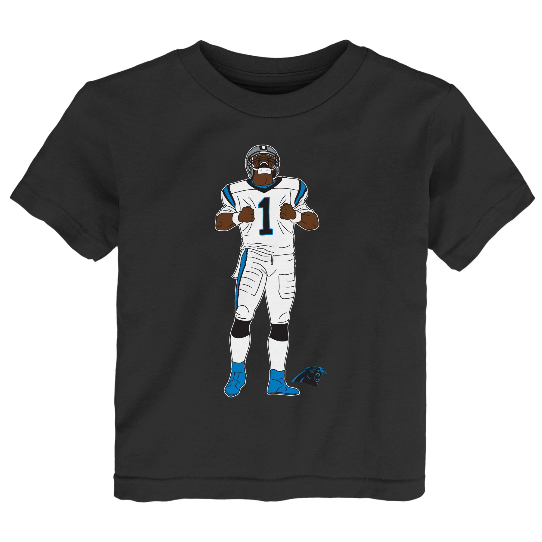 Cam Newton Carolina Panthers Toddler Celebration Pose T-Shirt - Navy