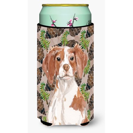 Brittany Spaniel Pine Cones Tall Boy Beverage Insulator Hugger BB9574TBC (Buy Pine Cones)
