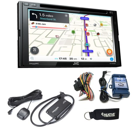 JVC KW-V840BT compatible with Android Auto / CarPlay CD/DVD with Sirius XM Tuner SXV3001 and Steering - Factory Xm Tuner