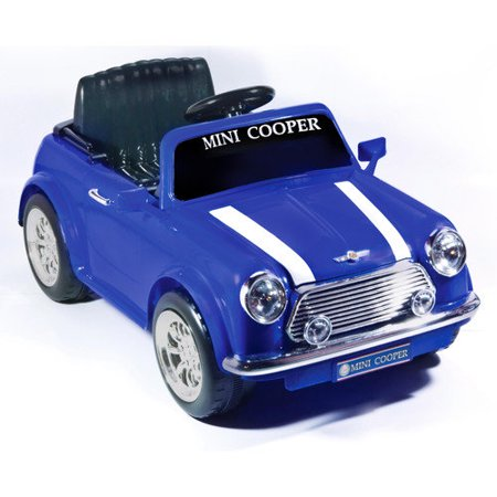 blue mini cooper 6 volt battery operated. Black Bedroom Furniture Sets. Home Design Ideas