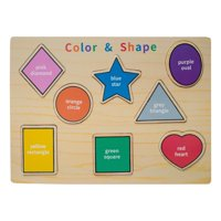 Eliiti Wooden Shapes Colors Puzzle for Toddlers 2 to 4 Years Old Boys Girls