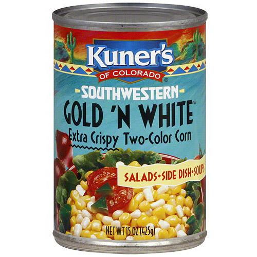 Kuner's Of Colorado Southwestern Extra Crispy Gold N White Corn, 15 oz (Pack of 12)
