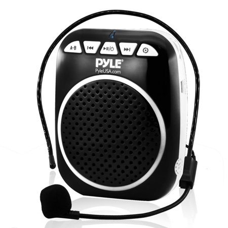 Pyle Compact & Portable Waist-Band PA Speaker System, Voice Amplifier & Microphone Headset with Built-in -