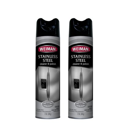 (2 Pack) Weiman Stainless Steel Cleaner & Polish, 12 Oz