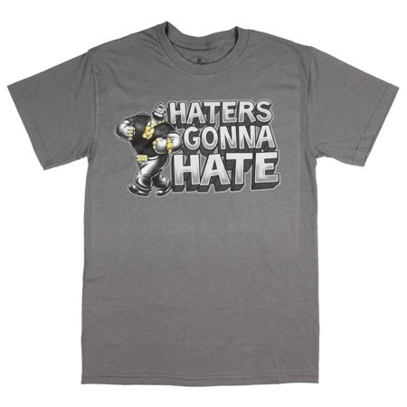 Popeye Mens Bluto Haters Gonna Hate Gold Bling T-Shirt - Miranda Sings Haters Back Off Shirt