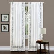 """Urban Savanna Grey Window Curtain, 42"""" x 84"""""""