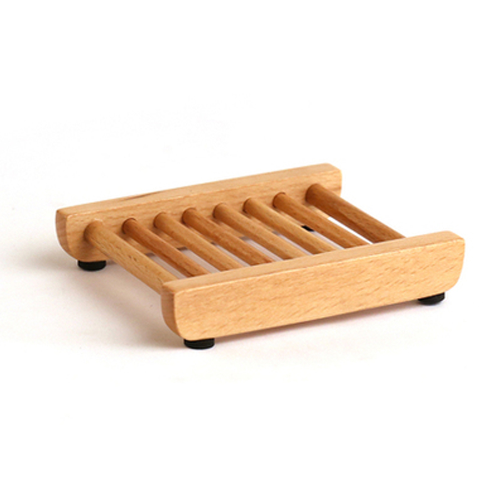 WOODEN Soap Tray Holder Natural Bamboo Wood Case Bathroom Dish