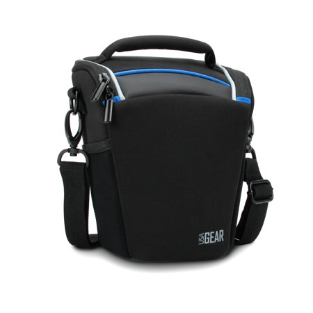 Travel Carrying Bag for Creative Halo Speaker with Top Loading Accessibility , Adjustable Shoulder Sling , Padded Handle & Weather Resistant Bottom by USA Gear - (Loading Pad)