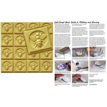 Craft Mold (Milky Way Clear PVC Honeybee Guest Soap Mold Tray - Makes 1.75 oz Bars. Melt & Pour, Cold)