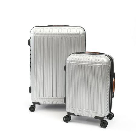 Silver Hardside Luggage (iFLY Hardside Luggage Racer 2 pcs set, Silver)