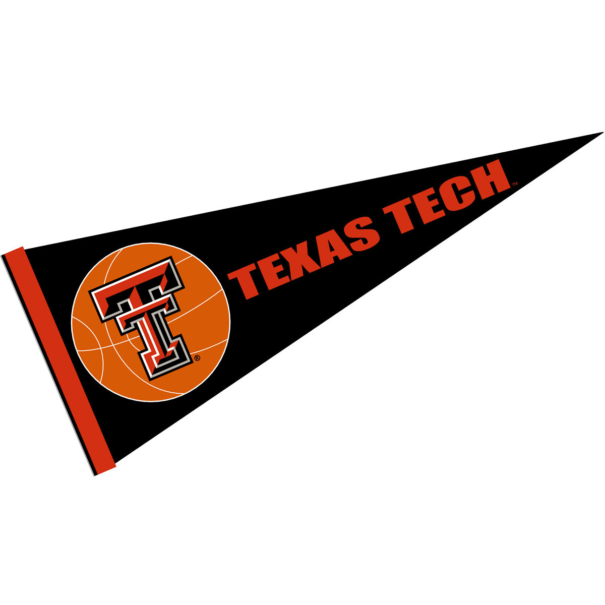 "Texas Tech Red Raiders Basketball 12"" X 30"" Felt College Pennant"