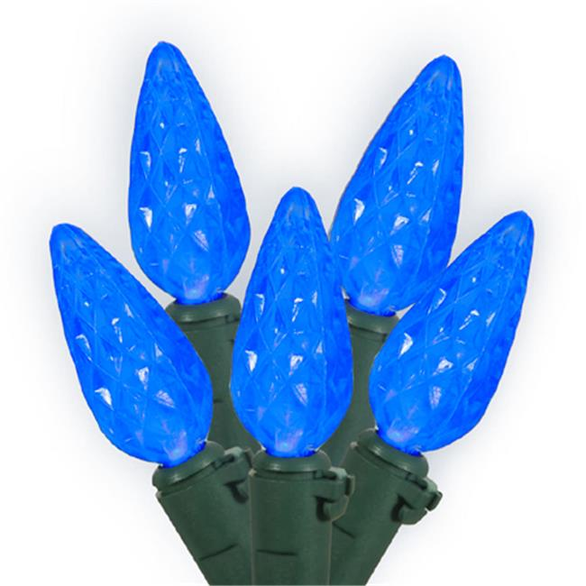 NorthLight Set Of 70 Blue LED C6 Christmas Lights - Green Wire
